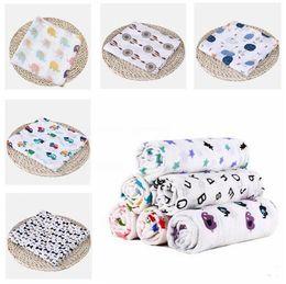 Summer Infant Muslin Australia - Muslin Cotton Blankets For Kids Fox Flamingo Patterns Girls Boys Newborn Swaddle Infant Gauze Towel Baby Wrap 74 Designs Free Shipping