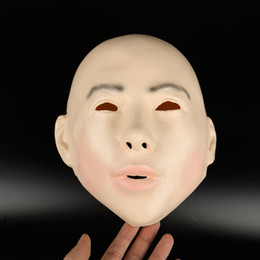$enCountryForm.capitalKeyWord NZ - Top Grade Latex Realistic Female Mask For Halloween Human Female Masquerade Latex Party Mask Sexy Girl Crossdress Costume Cosplay Mask toy