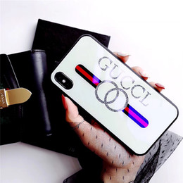 $enCountryForm.capitalKeyWord Australia - Luxury Phone Cases Glass Cover Protective Cases For Apple iphone 7plus X XR xs max For Woman Couple Friends