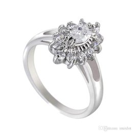 $enCountryForm.capitalKeyWord NZ - 10Pcs Lot Wholesale Wedding Jewelry Crystal Shop Brand Design Rings Delicate Shiny Real Gold Platinum Plated Zircon Ring