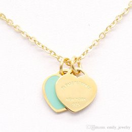 Love Chain Design Australia - 2017 Design Luxury Brand Heart Love Necklace for Women Stainless Steel Accessories Zircon green pink Heart Necklace For Women Jewelry gift