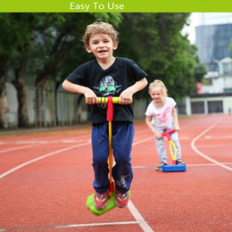 Jumping Games Australia - Children Rubber Crazy Jumping Stilts Safety For Kids Toy Jumping Sports Outdoor Frog jump Games Toys