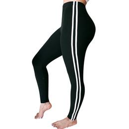$enCountryForm.capitalKeyWord Australia - Womens Mid Waist Striped Trousers Ladies Casual Drawstring Pants Gym Women Leggings Sport Push Up Leggings Sport Fitness #LRLS