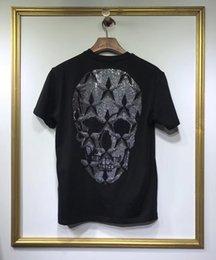 $enCountryForm.capitalKeyWord Australia - Men's T Shirt 2019 Short Sleeve Artificial diamond Big skull Round collar T-Shirt Tops & Tees Male Tshirts Men Clothing