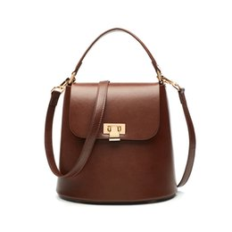 $enCountryForm.capitalKeyWord UK - Lovely2019 Woman Package Bucket Package Single Shoulder Portable Genuine Leather Woman Bag