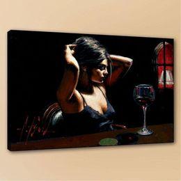 $enCountryForm.capitalKeyWord Australia - Fabian Perez The Dark Room II Handpainted & HD Print Famous Portrait Art Oil Painting On High Quality Canvas Multi sizes p182