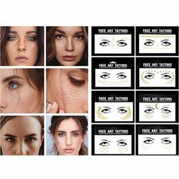 glitter face art 2019 - 1Pcs Sexy Temporary Tattoo Face Stickers Makeup Glitter Tattoos Sticker Waterproof Body Art Eye Face Jewels Flash Tattoo