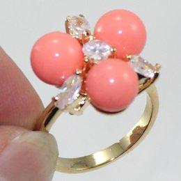 $enCountryForm.capitalKeyWord Australia - Jewelryr Jade Ring 8MM Pink South Sea Shell Pearl Jewelry Ring Free Shipping