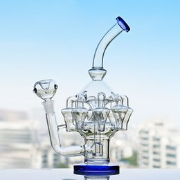 Rigs Bongs Australia - 11.8 Inchs Glass Oil Rigs Klein Recycler Bongs Water Pipes Thick Glass Water Bong Big Glass Pipes With 14mm Bowl Hookahs