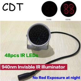 ir cctv lighting NZ - CDT 940nm IR LED illuminator Security Lighting 48PCS INSIVIBLE Infrared LED For Night Vision Surveillance CCTV Camera Fill light