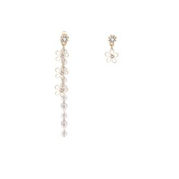 China Ten Mile Peach Curtain South Korea Soft and Smart Crystal Flower tasseled Earrings Female Back-hanging Drilling Ear Nail E858 suppliers