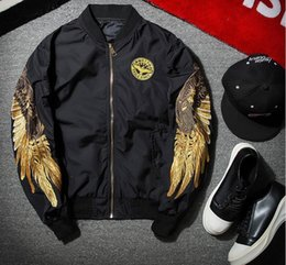 Angels Jackets NZ - good quality 2019 new fashion Jackets Spring Black Angel Wing Embroidery Bomber Jacket Men Streetwear Brand-clothing