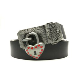 eae0d3b03055 Belts Metal Animals UK - Vintage Belts For Women Black PU Leather Belt  Women With Red