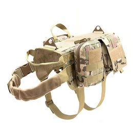 $enCountryForm.capitalKeyWord Australia - Tactical Dog Vest Suit Outdoor Equipment Large Dog Combat Clothing Military Harness With Detachable Molle Pouches Training Vest Set M88F