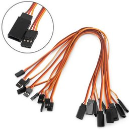 Led Extension Wire Australia - 10Pcs 300mm Servo Extension Lead Wire Cable For RC Futaba JR Male to Female 30cm