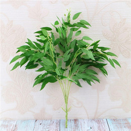 room decorative 2019 - Artificial Flowers Willow Leaves Decorative Plants Home Living Room Decoration Artificial Plants Supplies For Party Deco
