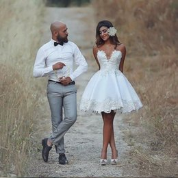 Cheap Short Backless White Dress Australia - 2019 elegant white lace above knee homecoming dresses custom sweetheart short prom dresses cheap backless mini party cocktail gowns