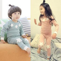 $enCountryForm.capitalKeyWord Australia - 2018 New Kids Cute Stars Pajamas Children Cotton Sleepwear Baby Boys Girls Underwear Set J190715