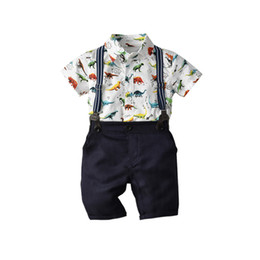 $enCountryForm.capitalKeyWord UK - Summer children's suits, clothes, European and American boys, dinosaurs, bows, short-sleeved, harem, bib, gentleman, three-piece suit