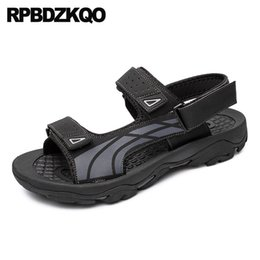 Black Runway Sport Men Sandals Leather Summer Native Beach Shoes Outdoor  Waterproof Water Strap Breathable Famous Brand Sneakers 725c4ac072a6