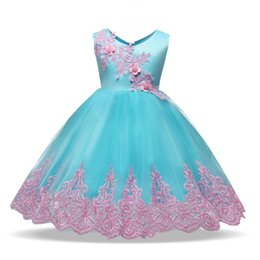 neck frock dresses UK - Baby Girl Infant Party Dress Halloween Frock Toddler Girls Clothes Fancy Tutu Bow Decoration Costume For Kids Formal Dresses