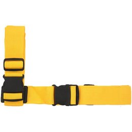 locking suitcase belt strap Australia - Long Cross Luggage Straps With Adjustable Cross Suitcase Belt Travel Bag Strap (yellow)