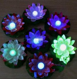 Lights & Lighting Led Lamps Icoco Led Artificial Lotus Colorful Changed Floating Flower Lamps Water Swimming Pool Wishing Light Lanterns Party Supply Buy One Give One