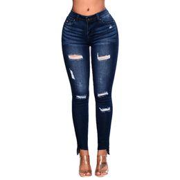 $enCountryForm.capitalKeyWord Australia - 2019 High Waist Skinny Fashion Boyfriend Material Jeans for Hot Women Hole Vintage Girls Slim Ripped Denim Pencil Pants#4