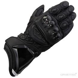 Leather Gloves Long Finger Men Australia - Alpine Leather Motorcycle Gloves Long Racing Driving Motocross Guantes MOTO GP Motorbike Original Cowhide PRO Glove Stars