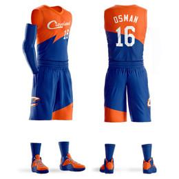 Short Basketball Jerseys Canada - 2018 Men Youth Cedi Osman Basketball Jersey Sets Uniforms kits Adult Sports shirts clothing Breathable basketball jerseys shorts DIY Custom