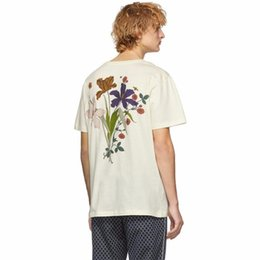 25ed0f4a5 Butterfly t shirt design online shopping - 19SS Luxury Design Fashion TEE  Floral Butterfly Monogram Short