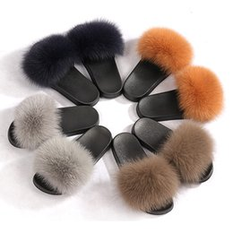 FluFFy Fur online shopping - 2019 Women s Furry Slippers Ladies Cute Plush Hair Fluffy Slippers Women s Fur Sweet girl style