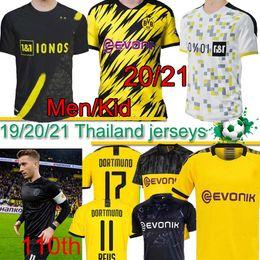 Borussia Dortmund 17 HAALAND REYNA 110th soccer jersey 19 20 21 HAZARD GOTZE REUS PULISIC WITSEL Jersey PACO ALCACER football shirt MEN Thai on Sale