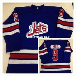 d1a9f1981fc Vintage Winnipeg Jets #9 Bobby Hull WHA 1972-73 MEN'S Hockey Jersey  Embroidery Stitched Customize any number and name