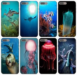sony xperia style case Canada - [TongTrade] Under Sealife Style Case For iPhone 11 Pro X XS Max 8s 7s 6s 5s 4s Samsung A80 A8S A9 Huawei GR3 GR5 Sony Xperia T3 Cover Case