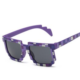 Wholesale Beach Kids Sunglasses Australia - Kids boys Square Grid Printing Sunglasses 5 colors colorful outdoors travel beach Camouflage children eye protection accessories QQA464