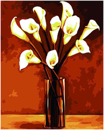 """Paintings Calla Lilies Australia - Kits Paint Adult Hand Painted DIY Painting By Numbers Oil Paint-Calla lily 16""""x20"""""""