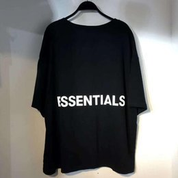 hi top brands NZ - Fear of God FOG Essentials T-shirt Hi-Street Plus Size Letter Printing Half Sleeve T-shirt Popular Fashion Brand Hip-hop Style Tees Top