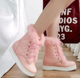 $enCountryForm.capitalKeyWord Australia - New Arrival Hot Sale Specials Super Fashion Influx Custom Martin Cowgirl Beauty Rabbit Hair Leather Platform Wedge Ankle Boots EU34-43