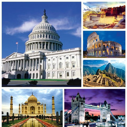 building toys pieces NZ - 1000 Piece The World Famous Building Landscape Paper Puzzles For Adult Diy Attractions Jigsaw Puzzle Toys Q190530