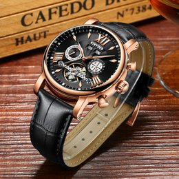 fly business UK - Precise Mechanical Automatic Mens Watch Flying Tourbillon Leather Waterpoof Business Watches Office Party Sport Daily Life Gift C19010401
