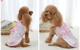 Large Girls Wedding Dresses Australia - Pet girl dress vest cotton Chinese style flower for new year wedding and dog costumes beautiful colourful spring summer