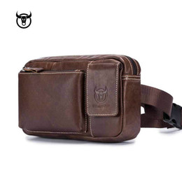 Wholesale BULLCAPTAIN Fanny Pack for Men Waists Bag Waist bag Leather Travel Pouch Packs Hidden Wallet Passport Money Waist Belt Ba