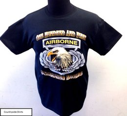 One Hundred And First Airborne Screaming Eagle T-Shirt (191) T Shirt For  Men Printing Short Sleeve Fashion Custom Big Size Team Tee Shirt 22d58b2c0
