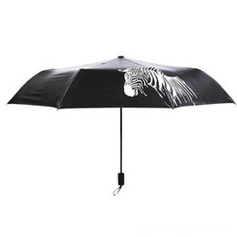 color changing umbrellas NZ - Folding Portables Household Sundries Color Changing Zebra AntiUv Sunshade Rain Cover Folding Portable Umbrellas Household Sundries Umbrella