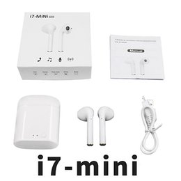 apple buds NZ - Mini i7 Twins Bluetooth Earbuds I7 Wireless Earphones Headphone Ear Buds For Iphone Android With Charger Dock 01