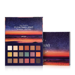 popular makeup palettes UK - 18 Color Sunset Eyeshadow Palette Floating Light Soft Fusion Eye Shadow Long Lasting Popular Eye Makeup Palettes