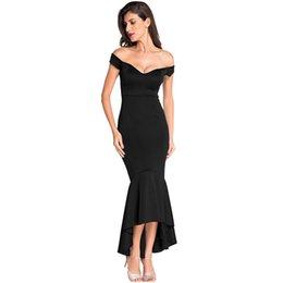 $enCountryForm.capitalKeyWord Australia - 2018 Summer Party Dress Women Sexy Black Off Shoulder Long Bandage Dress Vintage Backless Mermaid Maxi Dresses Longo Vestidos
