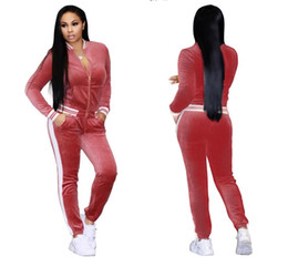 $enCountryForm.capitalKeyWord Australia - Large Size Women Sport Wear Stand Collar Tracksuits Sexy Women Casual Suit Zipper Pullover With Pant Jogging 2pc Set