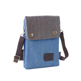 d36fdd4164b1d Girls Denim Mobile Wallet Single Shoulder Bag Female Fashion Hand Bags  Handbags Messenger Crossbody Mini Mobile Phone Square Bag